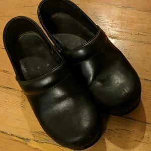 Black Dansko Clogs 38
